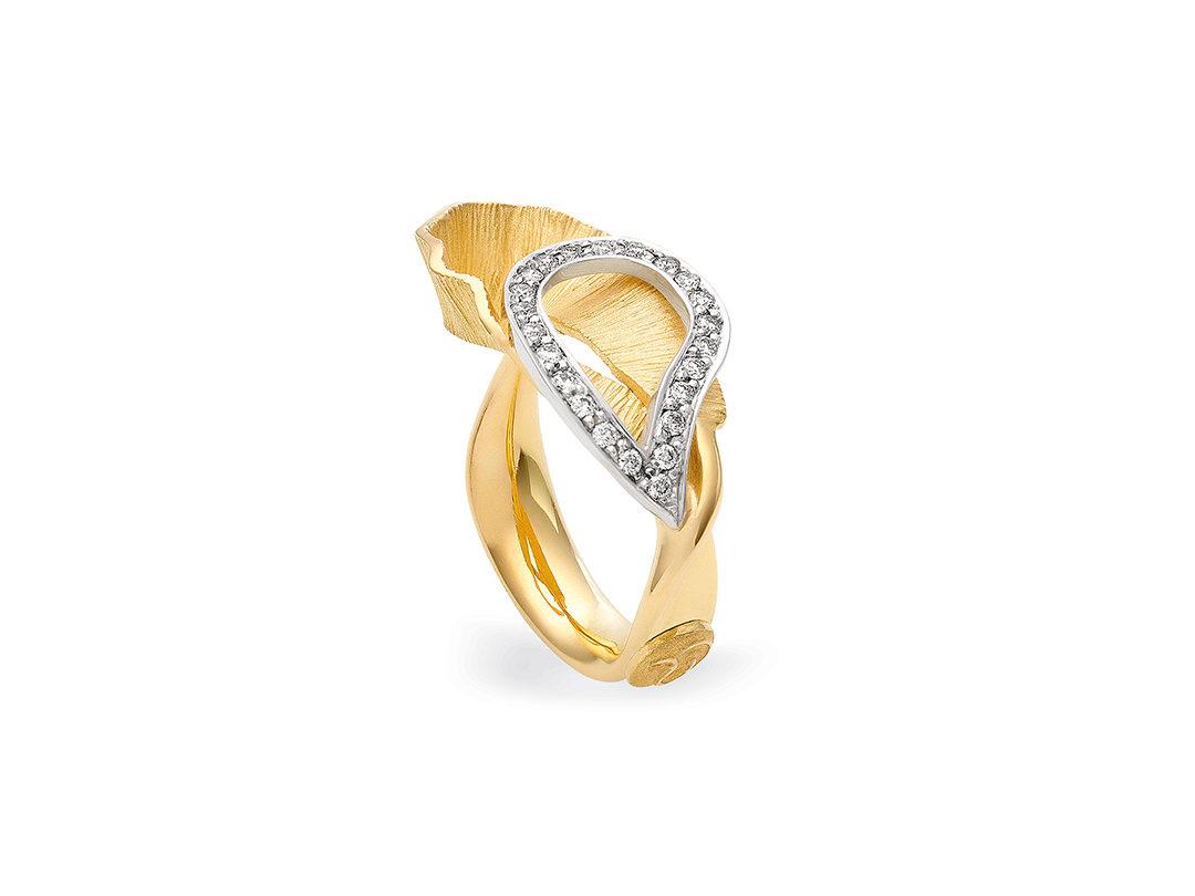 Anel de Ouro com Diamantes Yasmine
