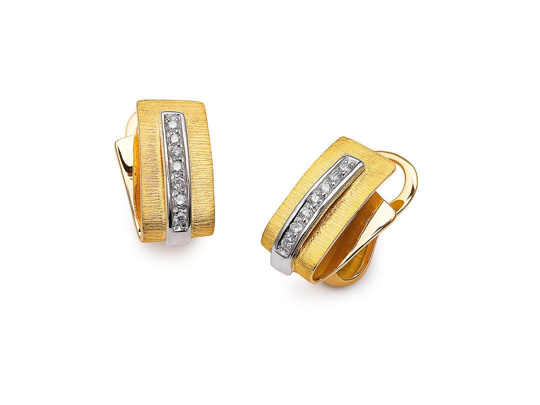 Brincos em Ouro com Diamantes Isabella