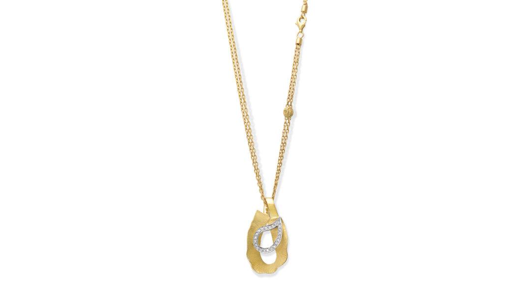 19.25Kt Gold Diamond Necklace Yasmine, Colar de Ouro com Diamantes