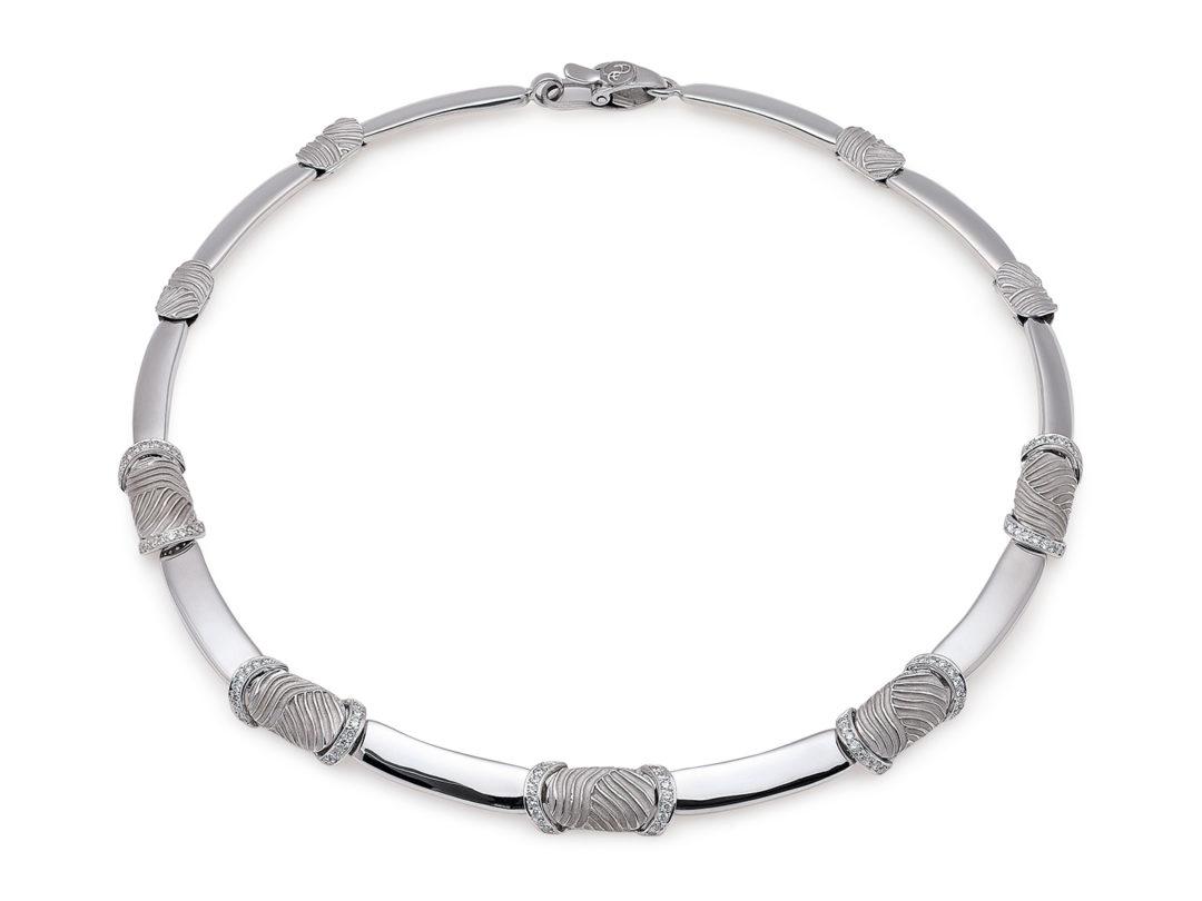 White Gold Diamond Necklace, Colar em Ouro Branco 19.25Kt Grace