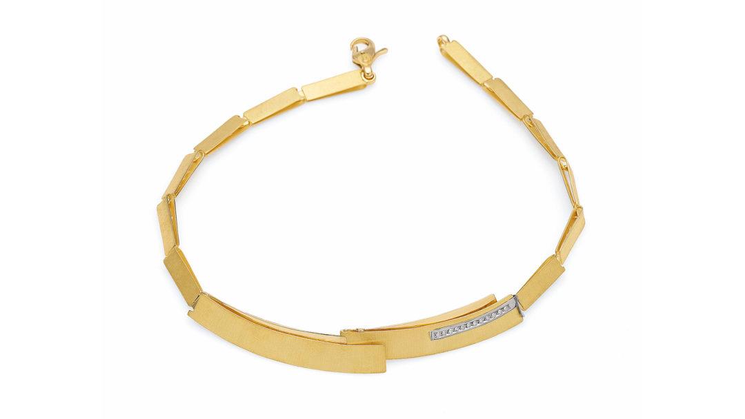 Gold Diamond Necklace, Colar em Ouro com Diamantes Isabella