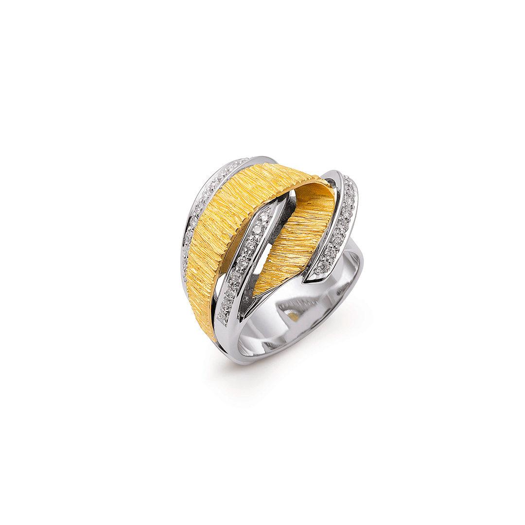 Bicolor Gold Diamond Ring Arícia