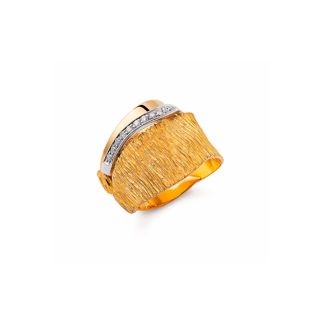 Luana Gold Diamond Ring