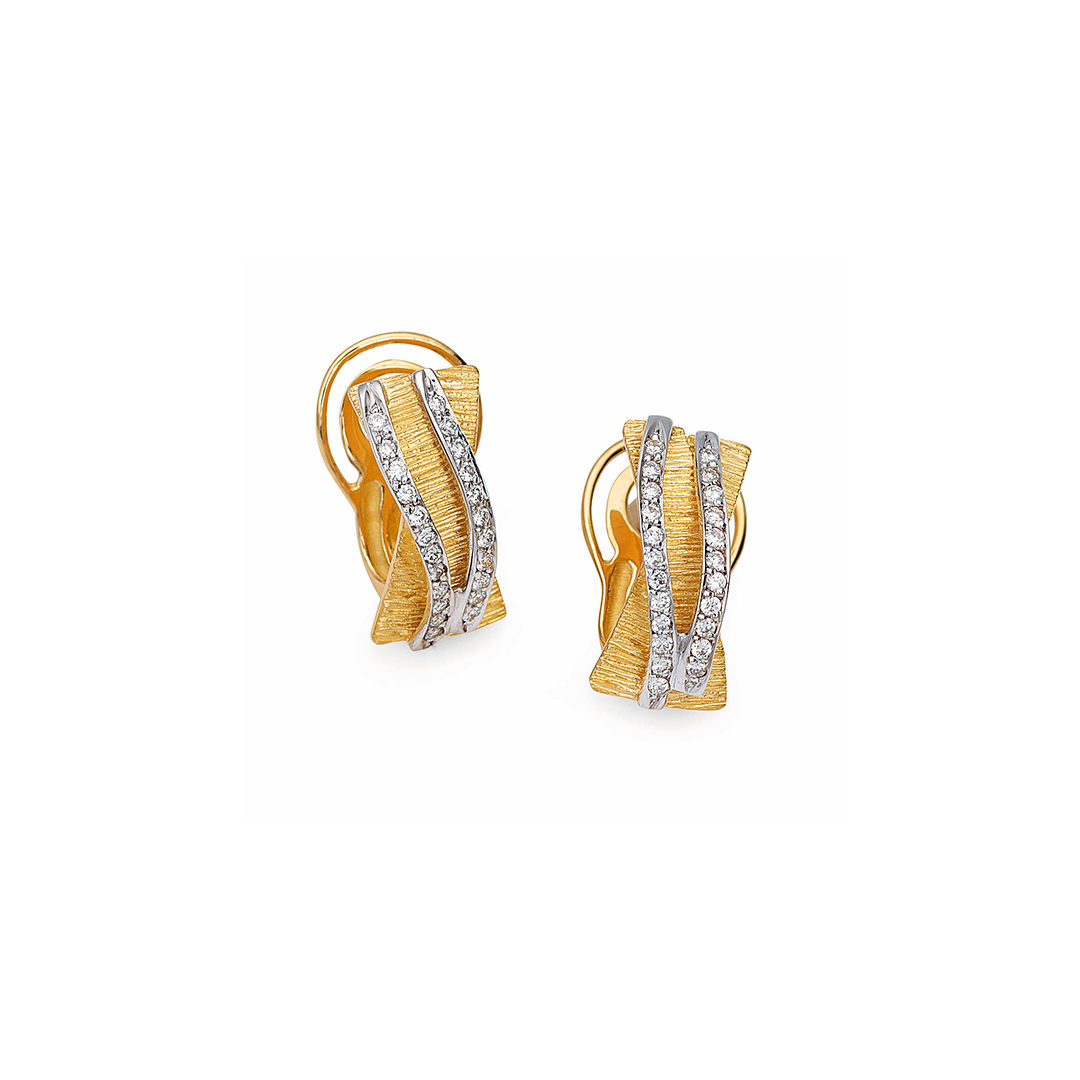 19.25Kt Gold Diamond Earrings