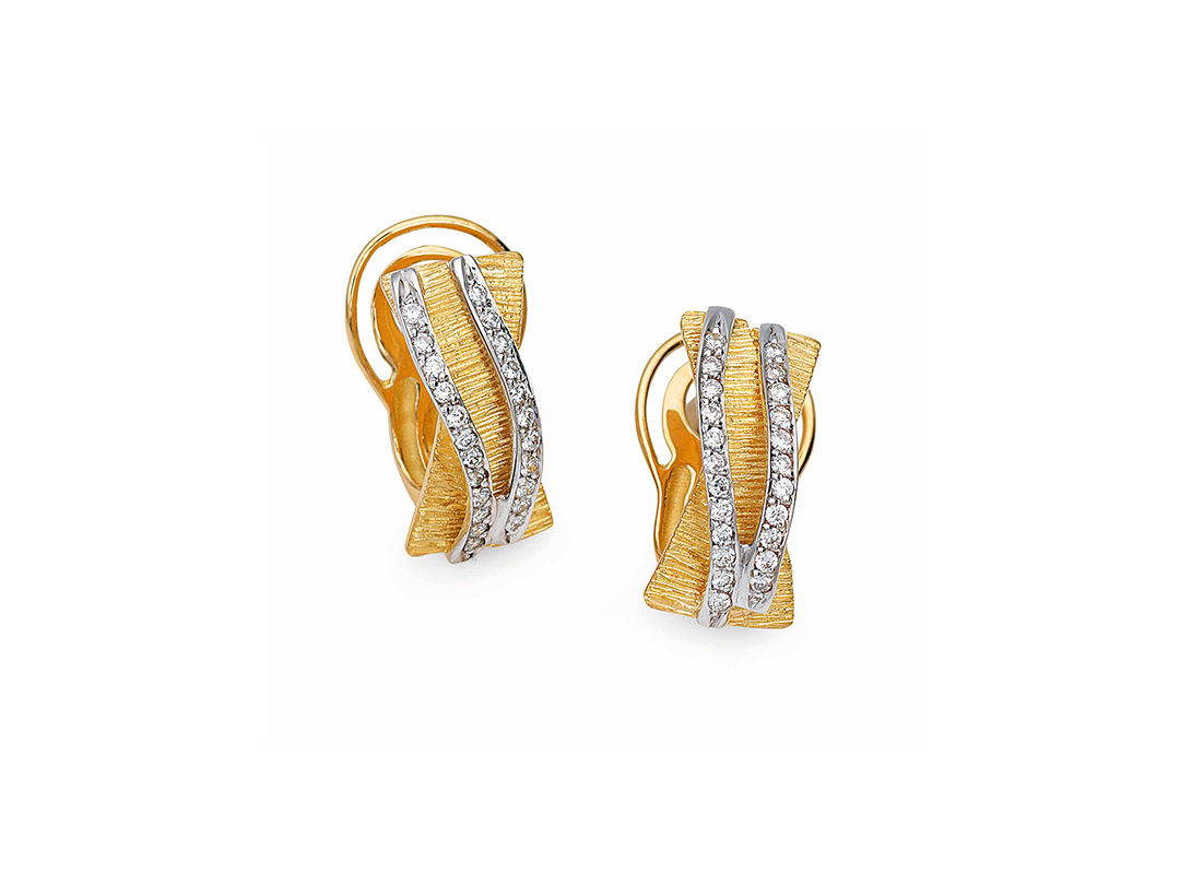 19.25Kt Gold Diamond Earrings