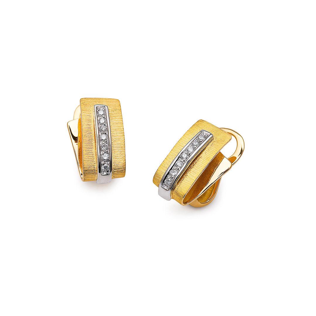 19.25Kt Bicolor Diamond Earrings