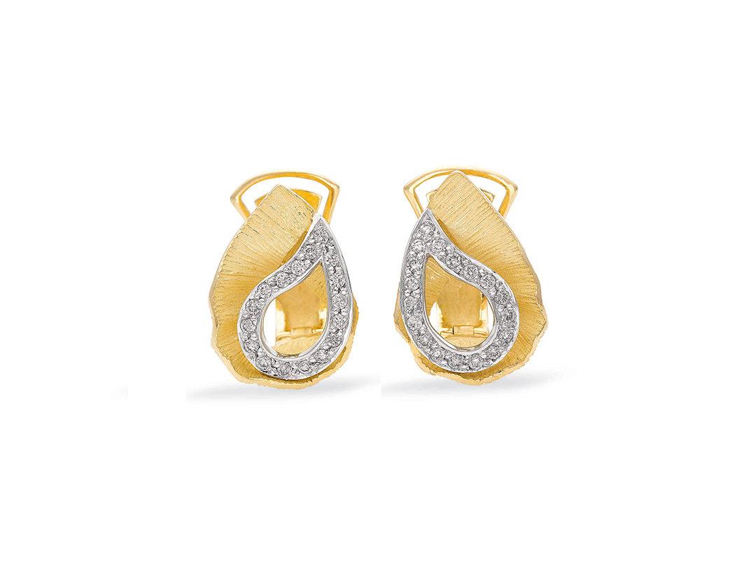 Bicolor Gold Diamond Earrings Yasmine
